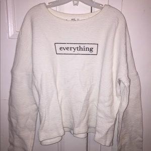 Sweatshirt text Long sleeve